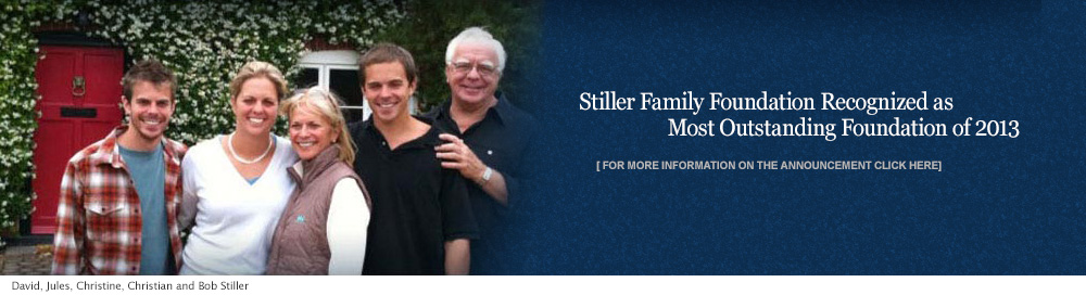 Stiller Family Foundation Recognized as Most Outstanding Foundation of 2013 | Bob Stiller